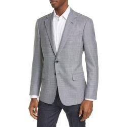 Men's Giorgio Armani Trim Fit Melange Wool Sport Coat, Size 48 US - Blue found on MODAPINS from LinkShare USA for USD $1995.00