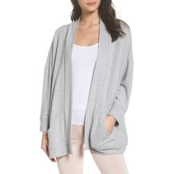 Women's Bb Dakota Halee Hacci Kimono Cardigan, Size Medium - Grey