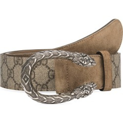 Women's Gucci Gg Supreme Tiger Head Spur Buckle Belt found on Bargain Bro India from Nordstrom for $450.00
