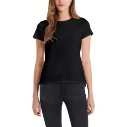 Women's Vince Camuto Short Sleeve Cotton Blend T-Shirt, Size Medium - Black found on Bargain Bro from Nordstrom for USD $29.64
