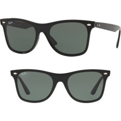 Ray-Ban Blaze 41mm Wayfarer Sunglasses - Black Solid found on Bargain Bro India from Nordstrom for $172.00