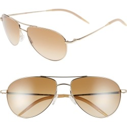 Women's Oliver Peoples Benedict 59mm Photochromic Gradient Aviator Sunglasses - Gold/ Chrome Amber found on Bargain Bro India from Nordstrom for $339.75