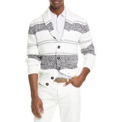 Men's Brunello Cucinelli Stripe Cotton Cardigan found on MODAPINS from LinkShare USA for USD $957.00