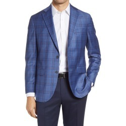 Men's Jack Victor Midland Plaid Wool Sport Coat, Size 38 Short - Blue found on MODAPINS from Nordstrom for USD $324.00