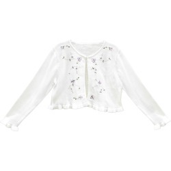 Toddler Girl's Sorbet Sequin Embroidered Ruffle Hem Cotton Cardigan Sweater, Size 3T - White found on Bargain Bro Philippines from Nordstrom for $32.00