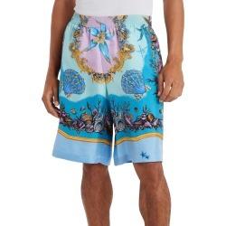 Men's Versace Tresor De La Mer Silk Twill Shorts, Size 38 US/ 54 EU - Blue found on MODAPINS from Nordstrom for USD $825.00