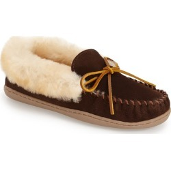 Women's Minnetonka 'Alpine' Genuine Shearling Moccasin Slipper, Size 11 M - Brown found on MODAPINS from Nordstrom for USD $69.95