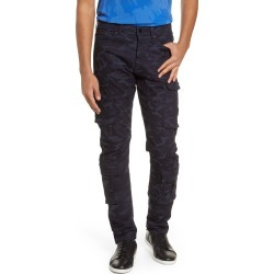 Men's Karl Lagerfeld Paris Slim Fit Camo Print Cargo Pants, Size 34 - Blue found on MODAPINS from Nordstrom for USD $229.00
