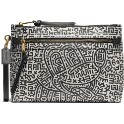 Men's Coach X Disney Keith Haring Academy Glovetanned Leather Wristlet - Black found on Bargain Bro from Nordstrom for USD $224.20