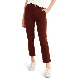 Women's Madewell Stovepipe Fatigue Pants, Size 24 - Red