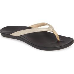 Women's Olukai Ho Opio Flip Flop, Size 9 M - Metallic found on MODAPINS from Nordstrom for USD $64.95