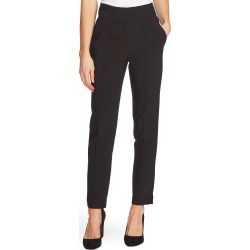 Women's Vince Camuto Pintuck Stretch Crepe Skinny Pants, Size 2 - Black