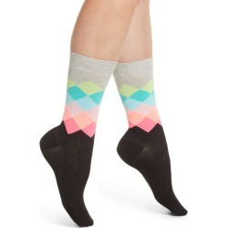 Women's Happy Socks Faded Diamond Crew Socks found on MODAPINS from Nordstrom for USD $7.20