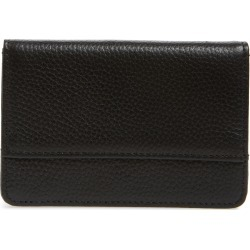 Women's Nordstrom Ruby Pebbled Leather Cardholder - Black found on Bargain Bro India from Nordstrom for $39.00