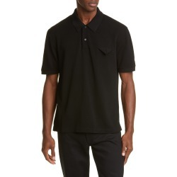 Men's Bottega Veneta Folded Pocket Short Sleeve Pique Polo, Size 48 EU - Black found on MODAPINS from LinkShare USA for USD $480.00