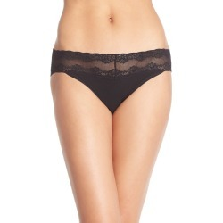 Women's Natori Bliss Perfection Bikini, Size One Size - Black found on MODAPINS from Nordstrom for USD $20.00
