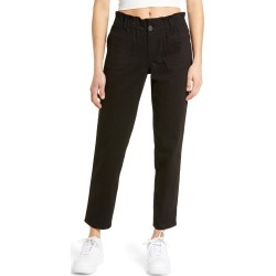 Women's 1822 Denim Paperbag Waist Twill Ankle Pants, Size 25 - Black found on MODAPINS from Nordstrom for USD $49.00