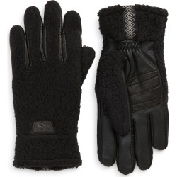 Men's UGG Stretch Palm Fleece Gloves, Size Medium - Black found on MODAPINS from Nordstrom for USD $85.00