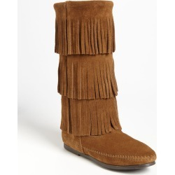 Women's Minnetonka 3-Layer Fringe Boot, Size 6 M - Brown found on Bargain Bro Philippines from Nordstrom for $99.95
