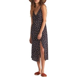 Women's Billabong Sweet Edges Midi Dress, Size Large - Black found on MODAPINS from Nordstrom for USD $65.95