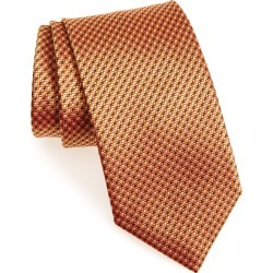 Men's Brioni Geometric Silk Tie, Size One Size - Orange found on MODAPINS from LinkShare USA for USD $125.00