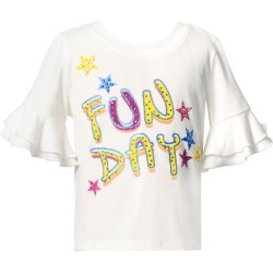 Toddler Girl's Truly Me Kids' Fun Day Embellished T-Shirt, Size 3T - White found on Bargain Bro Philippines from Nordstrom for $35.00