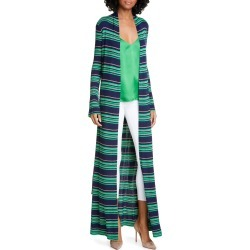 Women's L'Agence Marija Stripe Duster, Size Large - Blue found on MODAPINS from Nordstrom for USD $350.00