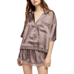 Women's Topshop Chloe Lace Trim Short Pajamas found on MODAPINS from Nordstrom for USD $32.98