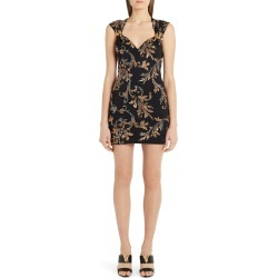 Women's Versace Acanthus Leaf Sequin & Crystal Embellished Minidress, Size 4 US - Black found on Bargain Bro Philippines from Nordstrom for $4525.00