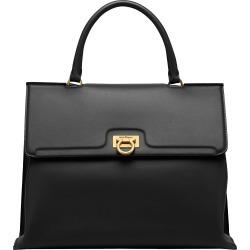 Salvatore Ferragamo Trifolio Leather Top Handle Bag - Black found on Bargain Bro Philippines from Nordstrom for $2400.00