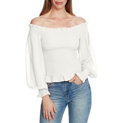 Women's 1.state Smocked Off The Shoulder Top, Size X-Small - White found on Bargain Bro Philippines from LinkShare USA for $99.00