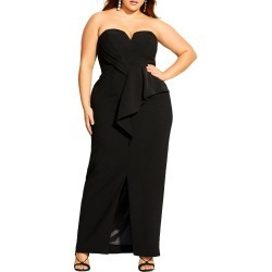 Plus Size Women's City Chic Strapless Gown