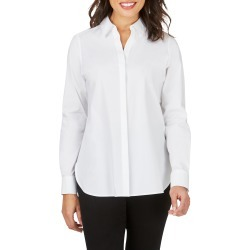 Women's Foxcroft Kylie Non-Iron Cotton Button-Up Shirt, Size 10 - White found on Bargain Bro from Nordstrom for USD $54.11
