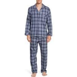 Men's Majestic International Trimmings Plaid Cotton Flannel Pajamas, Size Small - Blue found on MODAPINS from Nordstrom for USD $75.00