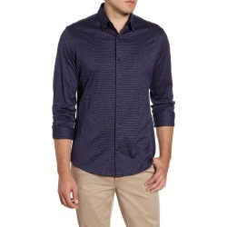 Men's Nordstrom Men's Shop Regular Fit Jacquard Button-Up Knit Shirt, Size XX-Large - Blue found on Bargain Bro Philippines from Nordstrom for $34.75