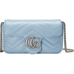 Gucci Super Mini Gg Matelasse Leather Crossbody Bag - Blue found on MODAPINS from Nordstrom for USD $890.00
