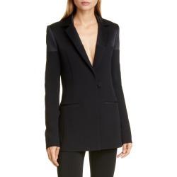 Women's Cushnie Silk Charmeuse Panel Jacket