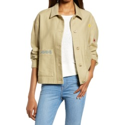 Women's Madewell Embroidered Chore Jacket, Size X-Small - Green found on Bargain Bro from Nordstrom for USD $104.88