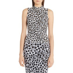 Women's Versace Leopard Jacquard Sleeveless Sweater found on MODAPINS from Nordstrom for USD $725.00