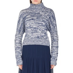 Women's Akris Punto Melange Knit Turtleneck Sweater, Size 12 - Blue found on MODAPINS from Nordstrom for USD $795.00