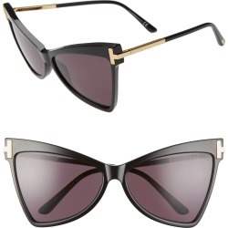 Women's Tom Ford Tallulah 61mm Cat Eye Sunglasses - Shiny Black/ Smoke found on Bargain Bro Philippines from Nordstrom for $495.00