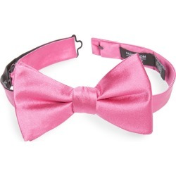 Men's Nordstrom Men's Shop Solid Silk Bow Tie, Size One Size - Pink found on Bargain Bro India from Nordstrom for $49.50