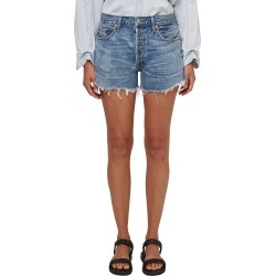 Women's Citizens Of Humanity Marlow Distressed High Waist Denim Shorts, Size 25 - Blue found on MODAPINS from Nordstrom for USD $158.00