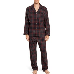 Men's Majestic International Trimmings Plaid Cotton Flannel Pajamas, Size Medium - Black found on MODAPINS from Nordstrom for USD $75.00