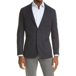 Men's Canali Plaid Jersey Sport Coat, Size 42 US - Blue found on Bargain Bro from Nordstrom for USD $832.20