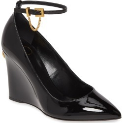 Women's Valentino Garavani Ringstud Wedge Ankle Strap Pump, Size 11US / 41EU - Black found on Bargain Bro Philippines from Nordstrom for $845.00