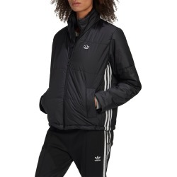 Women's Adidas Originals Short Puffer Jacket, Size Large - Black found on MODAPINS from Nordstrom for USD $100.00