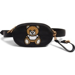 Moschino Beaded Teddy Satin Pouch - Black found on MODAPINS from Nordstrom for USD $720.00