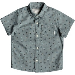 Toddler Boy's Quiksilver Mini Motif Shirt, Size 7 - Blue found on Bargain Bro India from Nordstrom for $40.00