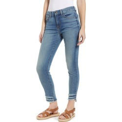 Women's Jen7 By 7 For All Mankind High Waist Fringe Hem Ankle Skinny Jeans, Size 14 - Blue found on MODAPINS from Nordstrom for USD $109.00